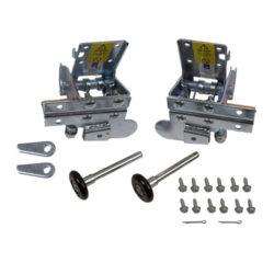 Комплект нижних кронштейнов с роликами, прав и лев С устройством защиты обрыва троса CDB                           Кравфорд